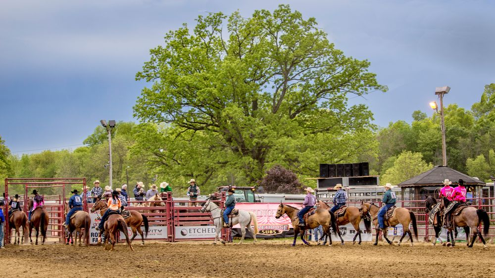 Cowboys lineup for the Rodeo