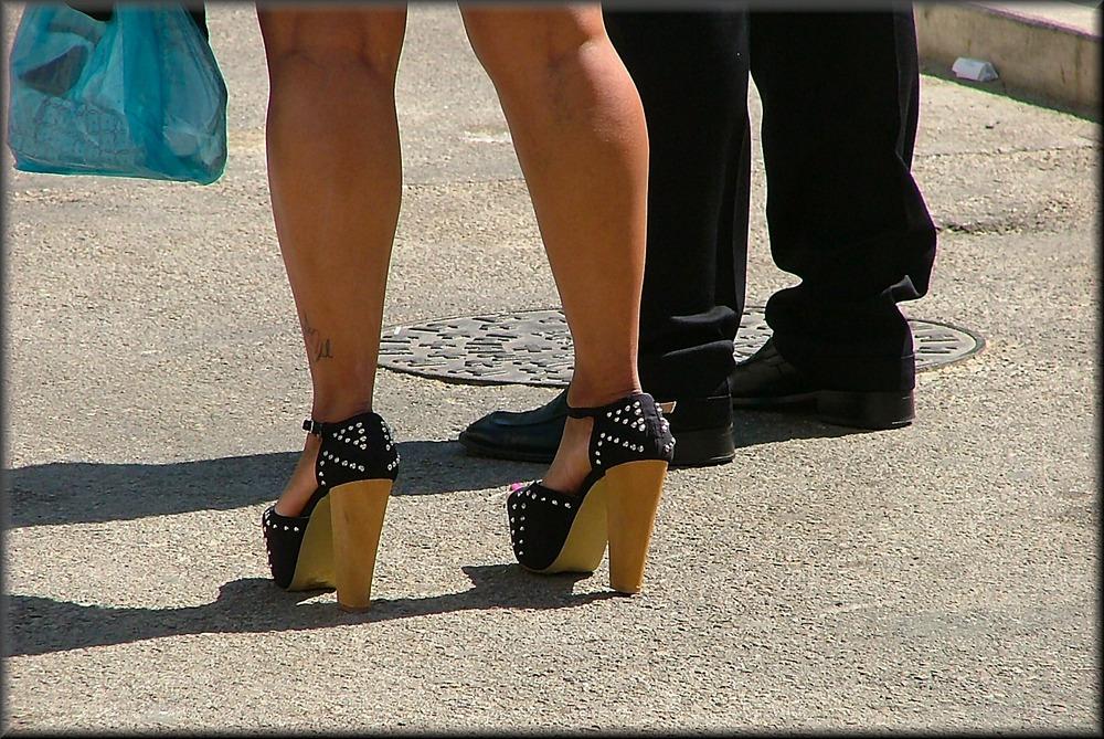 Crazy shoes for crazy women
