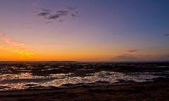 Crépuscule sur l'estran du bassin de Marennes-Oléron