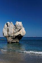 Creta - Vista dalla spiaggia di Preveli