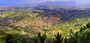 Crete: The Village Arhanes viewed from the Mountain Yuhta/ Der Dorf Arhanes gesehen vom Berge Yuhta by Fotinos Katsaounis
