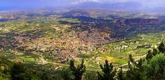 Crete: The Village Arhanes viewed from the Mountain Yuhta/ Der Dorf Arhanes gesehen vom Berge Yuhta