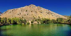 Crete: The Votomos Lake in the Zaros Canyon/ Der See von Votomos in der Zaros Schlucht
