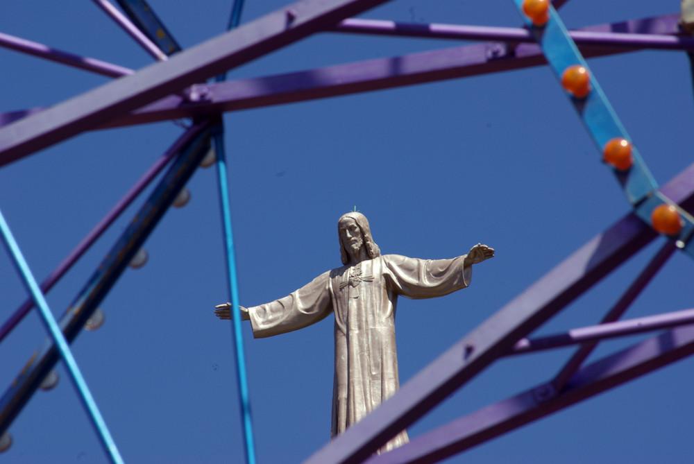 Cristo visto a través de la Noria