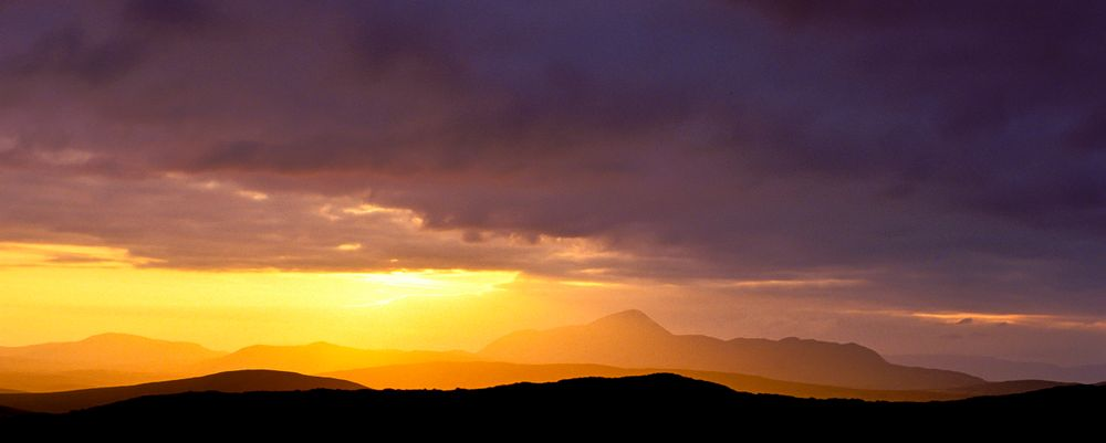 Croagh Patrick --- bei Sonnenuntergang