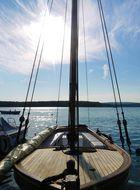 Croatia, Krk, Malinska Marina, sailing boat