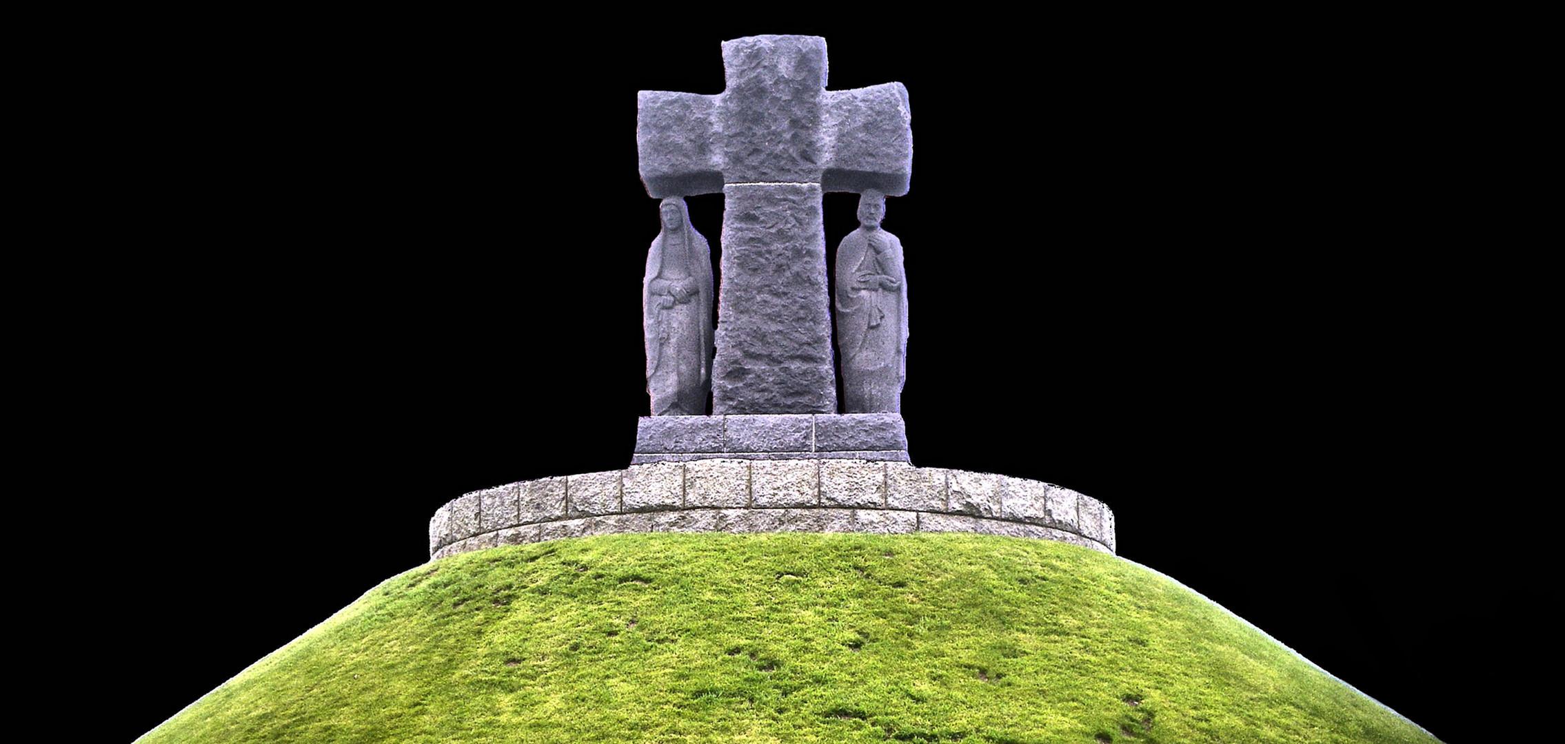 croix d'un cimetiere allemand en normandie (debarquement)