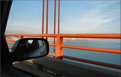 Crossing the  25 April Bridge
