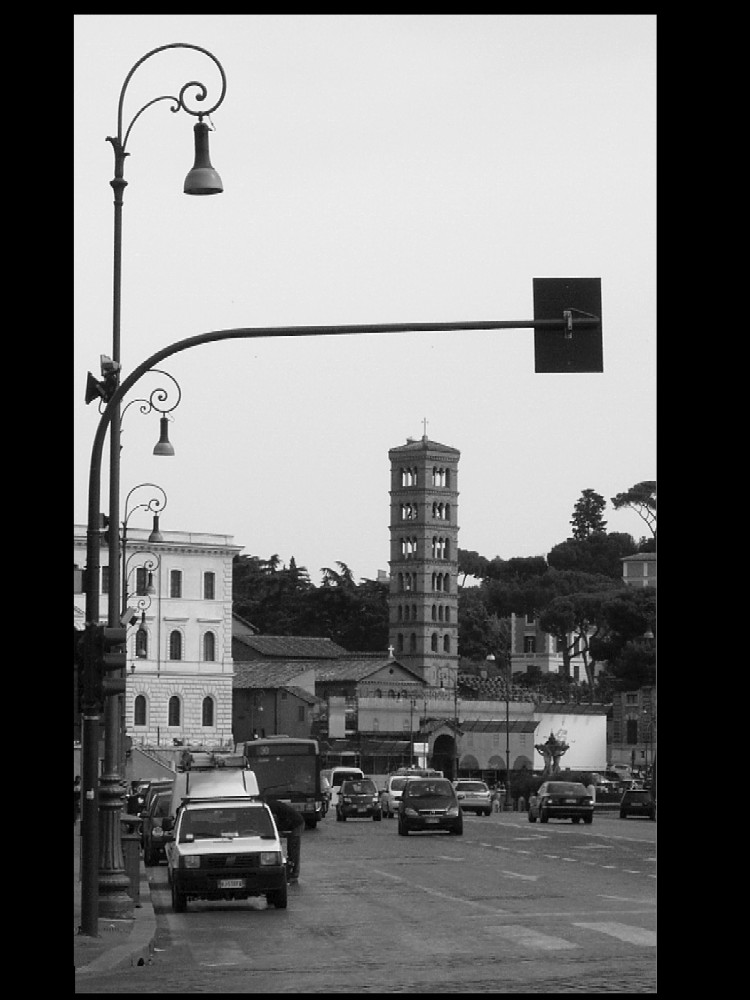 Crossroad in Rome