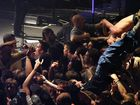 crowd surfers at BFMV show