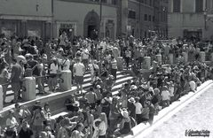Crowd, Trevi's Fountain, Rome, July 2017