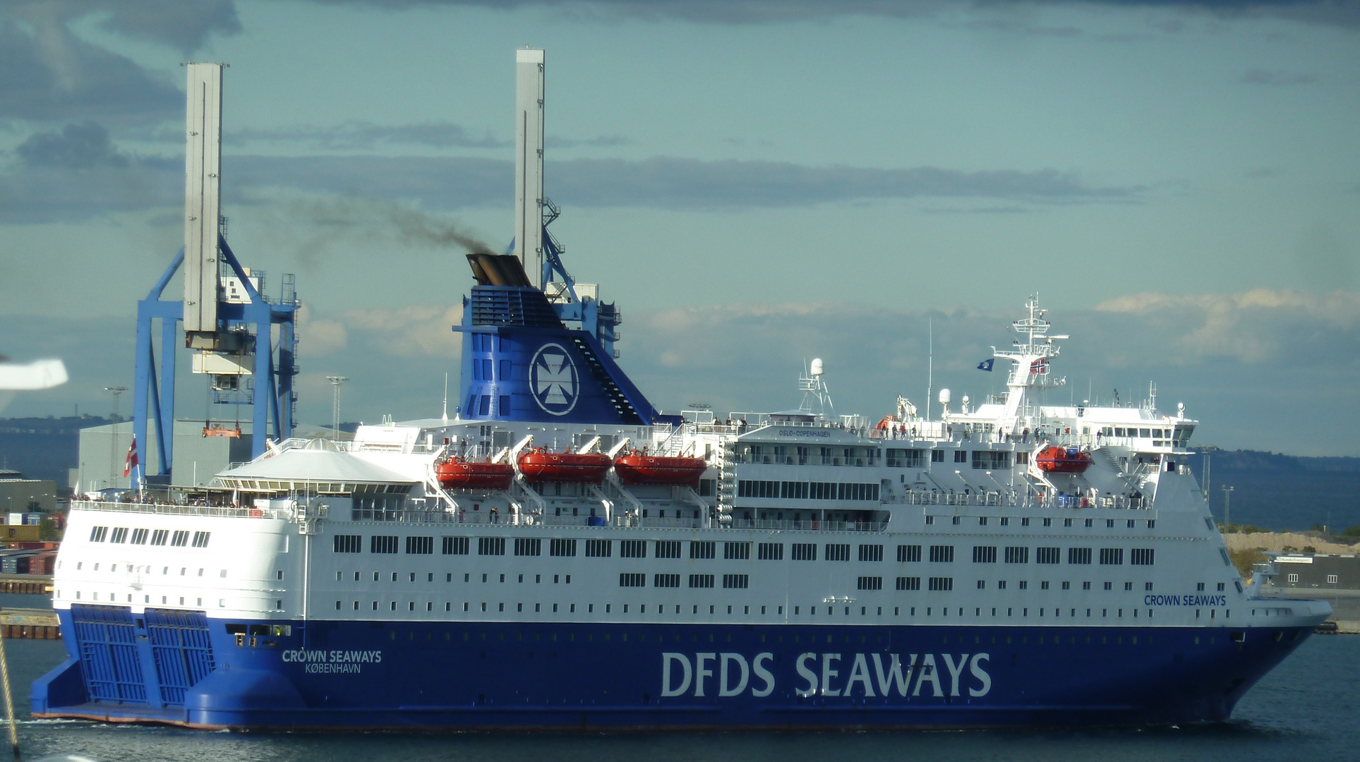 """Crown Seaways""-Fähre in Kopenhagen"