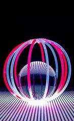 crystal ball with glow sticks