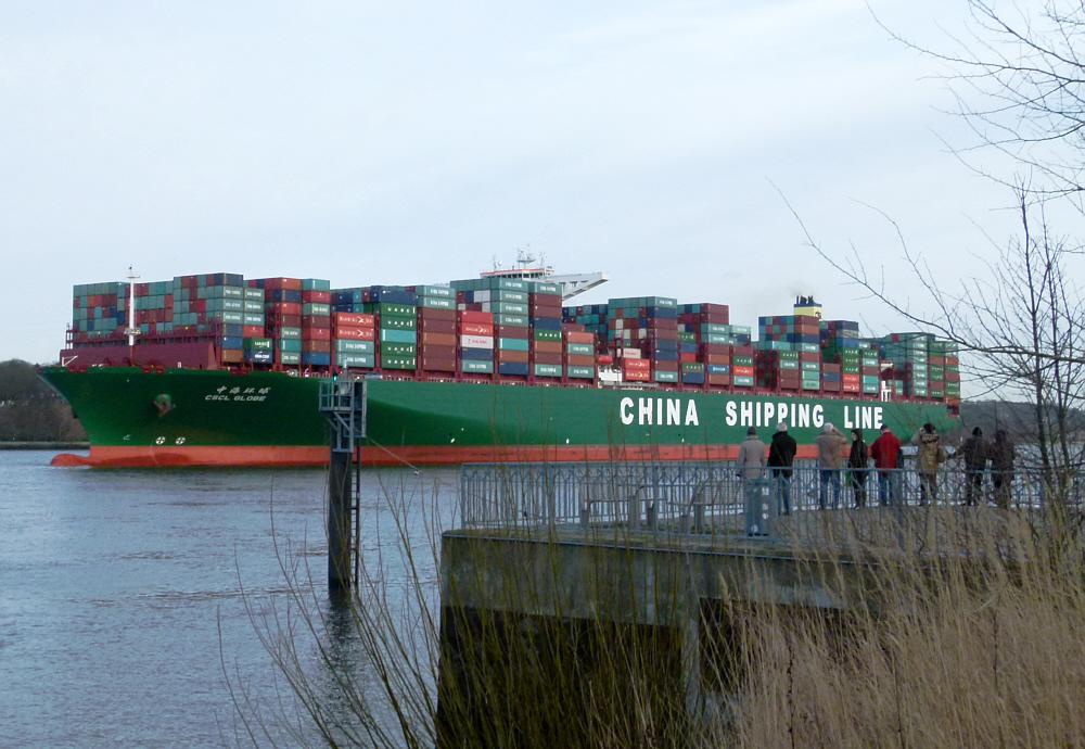 CSCL Globe z.Zt. grösstes Containerschiff der Welt