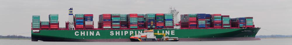 CSCL Indian Ocean auf der Elbe