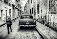 Cuba Car B&W No. 1