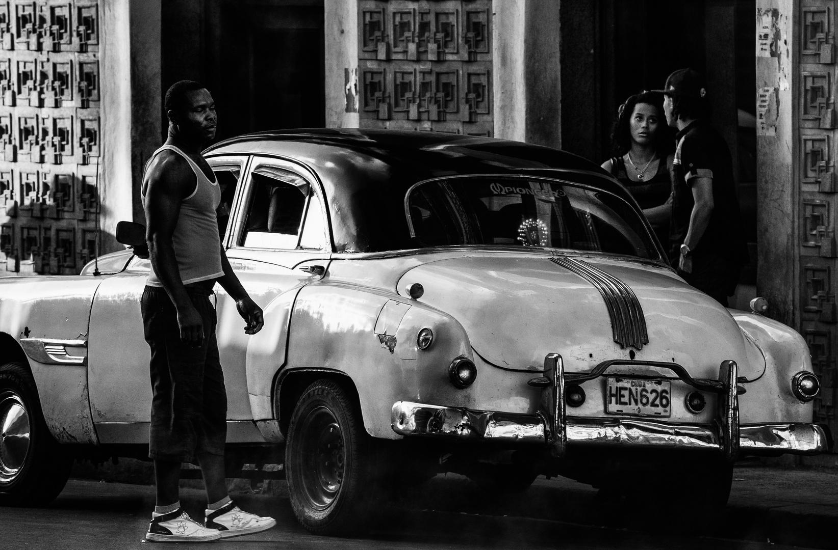 Cuba Car B&W No.13