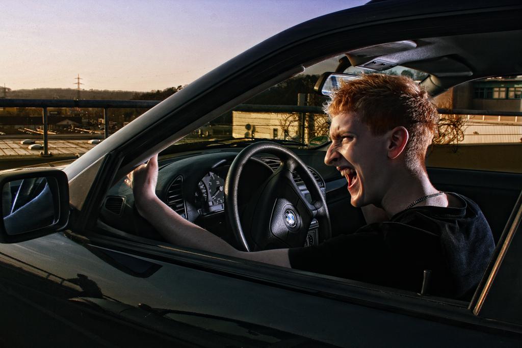 Cudi in the car
