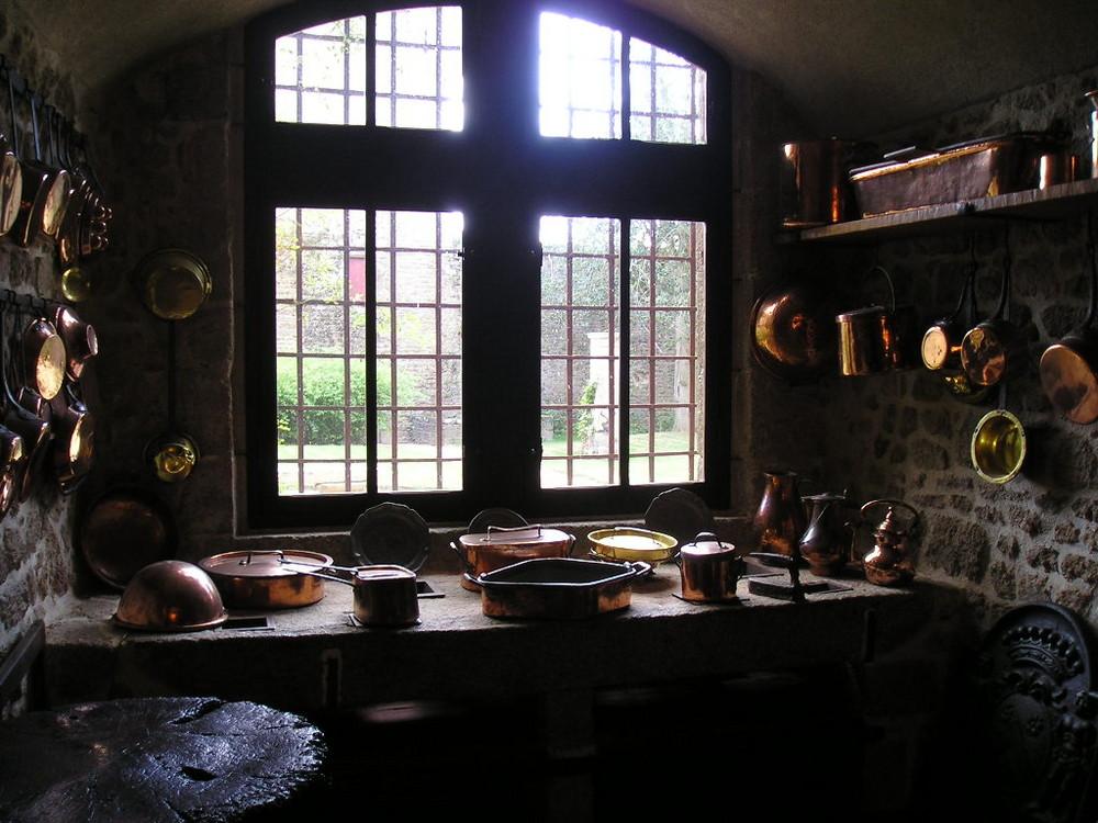 Cuisine du château, Lassay les châteaux, Mayenne