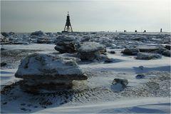 Cuxhaven im Eis