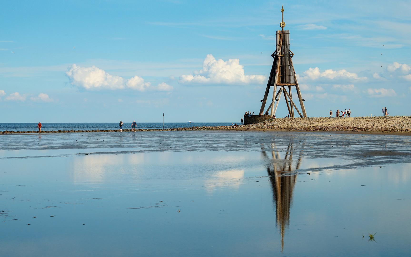 Cuxhavens Kugelbake - seit 1703