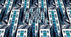 Cyan Lighted City XX