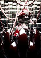 Cyberlady in red