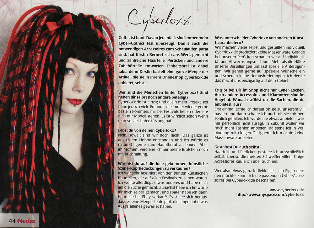 Cyberloxx.de im Gothic