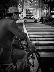 Cyclist at night