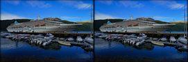 Kreuzfahrtschiff Artania in Andalsnes  Norwegen  (3D-X-View) von 3D-Wolfgang