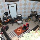 Da musste wir unser Motorrad mit ins Hotel nehmen