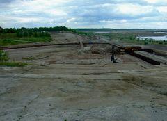 °°° Da schaun wir mal von Großräschen ins im Bau befindliche Hafenbecken °°°