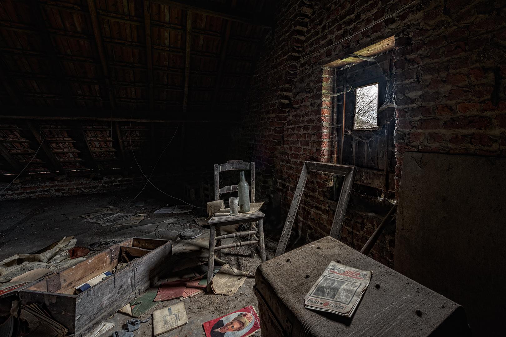 Dachboden einer alten Maison