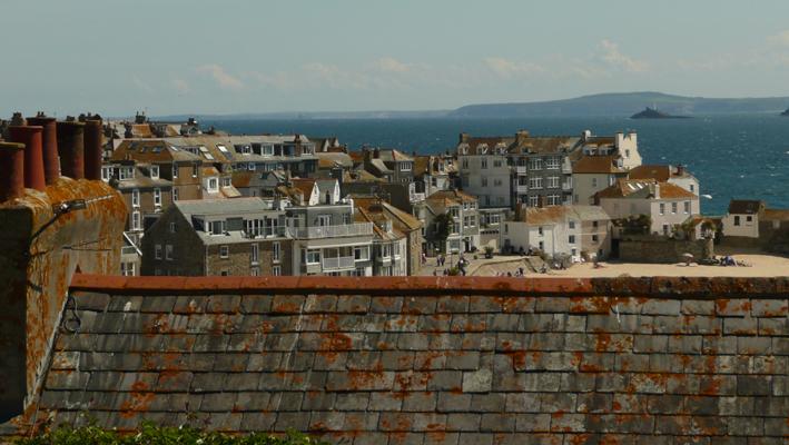 Dächer in St Ives