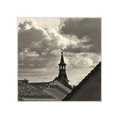 Dächer und Himmel