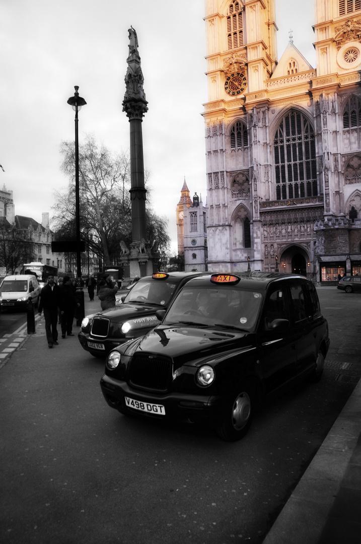 Dämmerung am Westminster Abbey