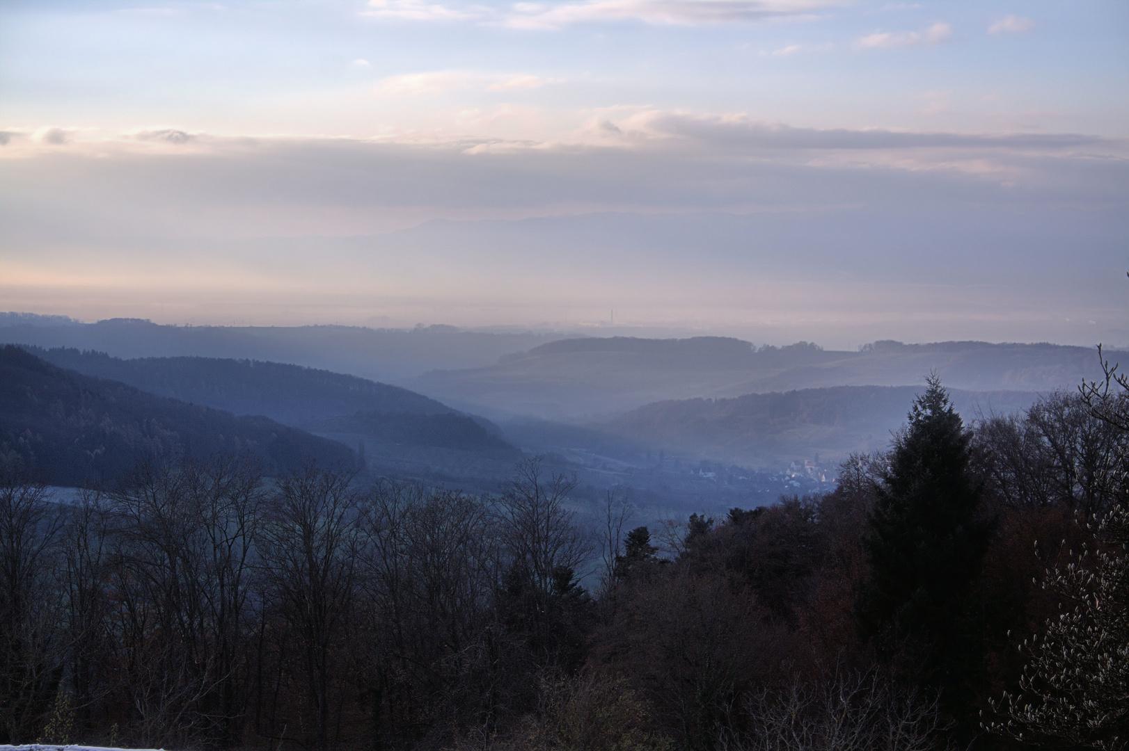 Dämmerung im Markgräflerland, Eggener Tal, Schloß Bürgeln, Oberrheinebene #4
