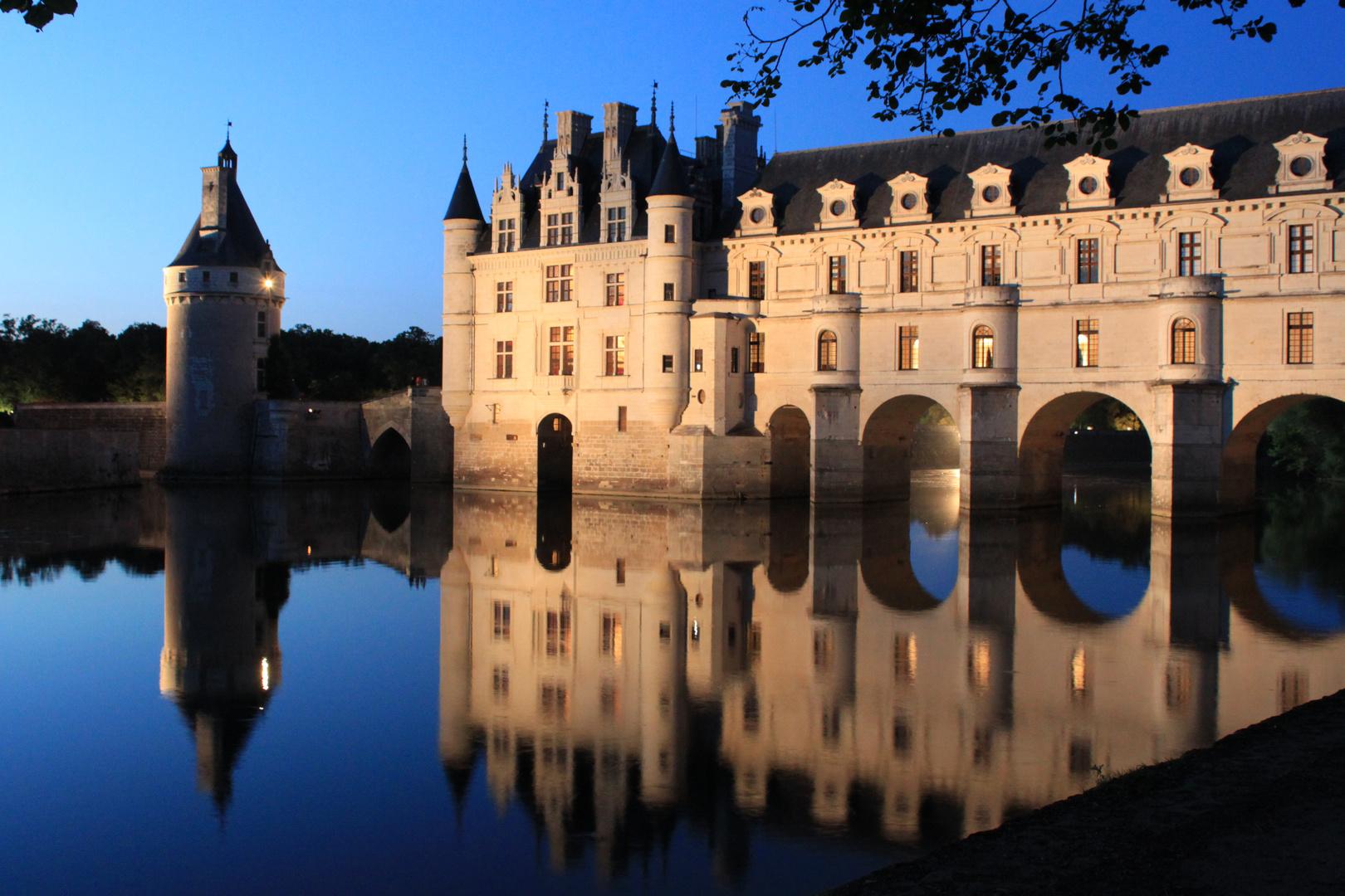 Dämmerung über Schloss Chenonceau