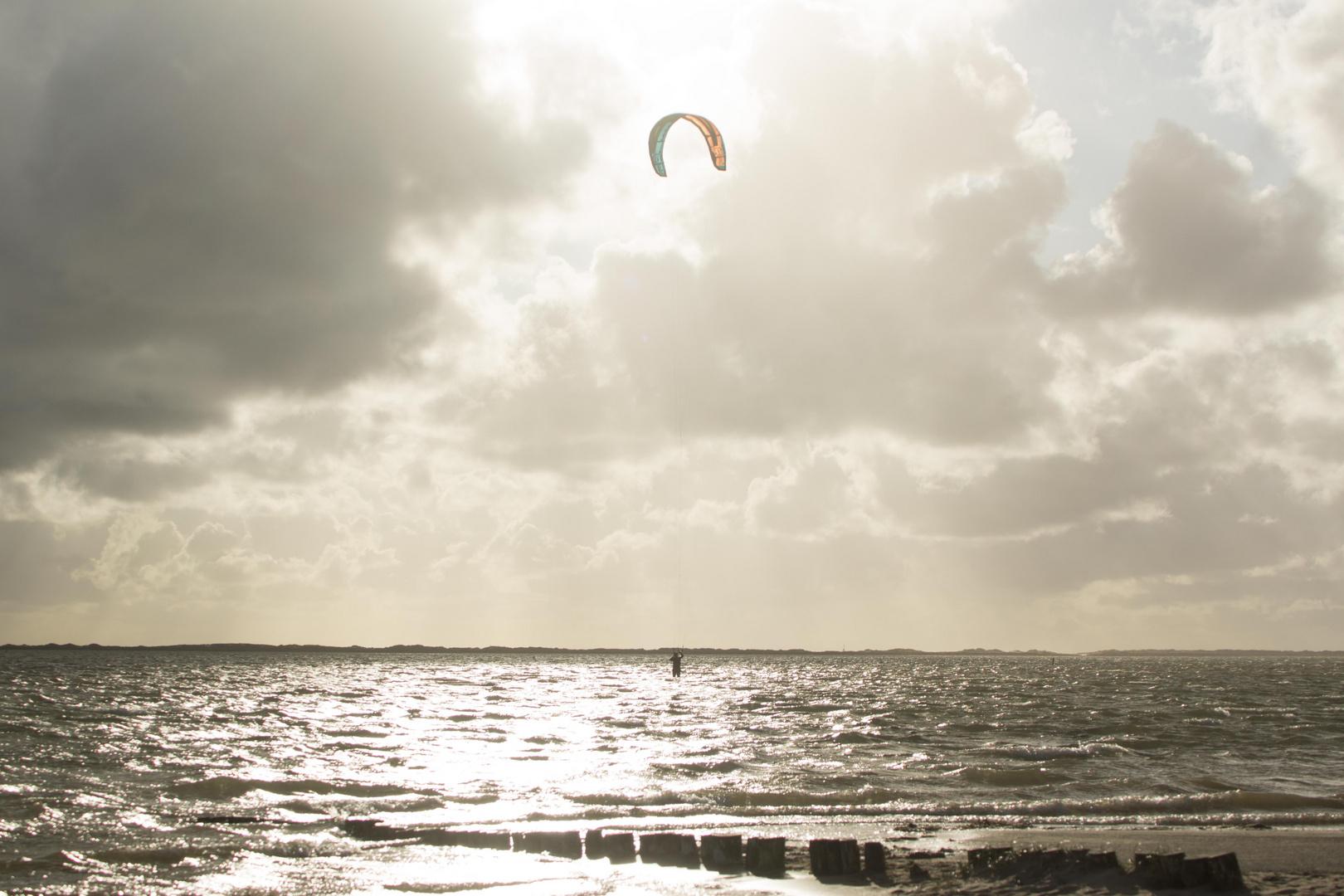 Dänemark 2015, Rømø, Wind- und Kitesurfer