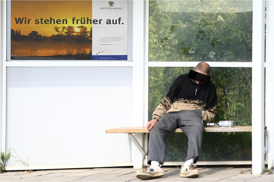 dafür schlafen wir sogar an der Bushaltestelle...