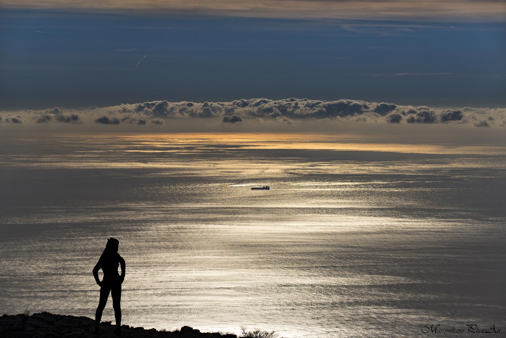 Dal Monte Beigua (Sv) osservando il Mar del Golfo Ligure