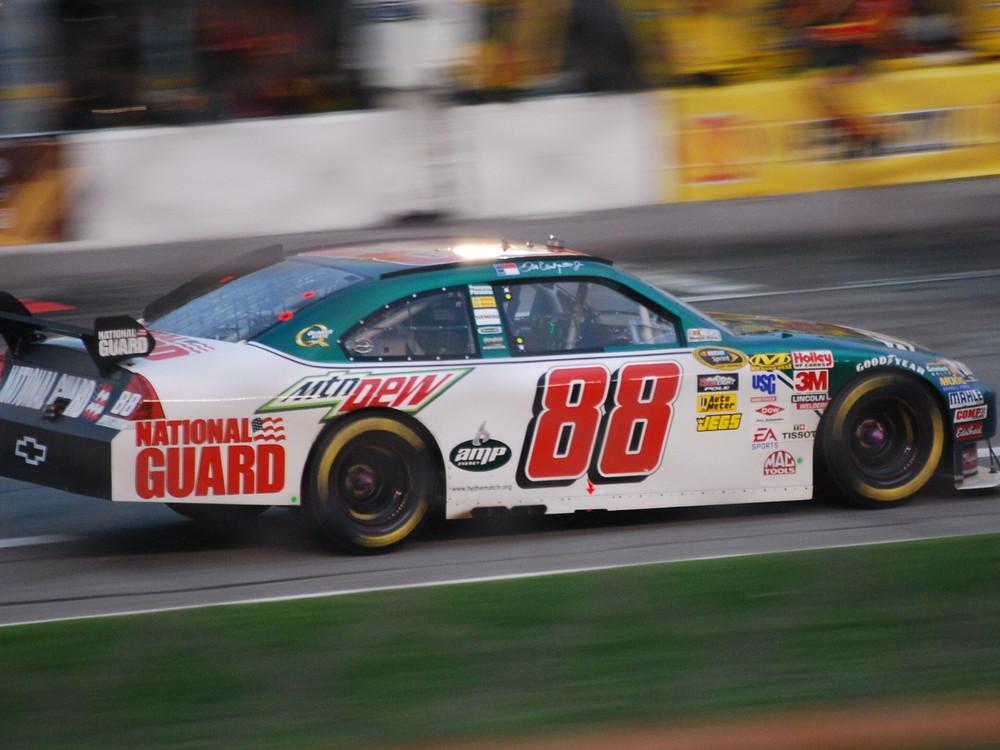 Dale Earnhardt Jr #88 on pit lane