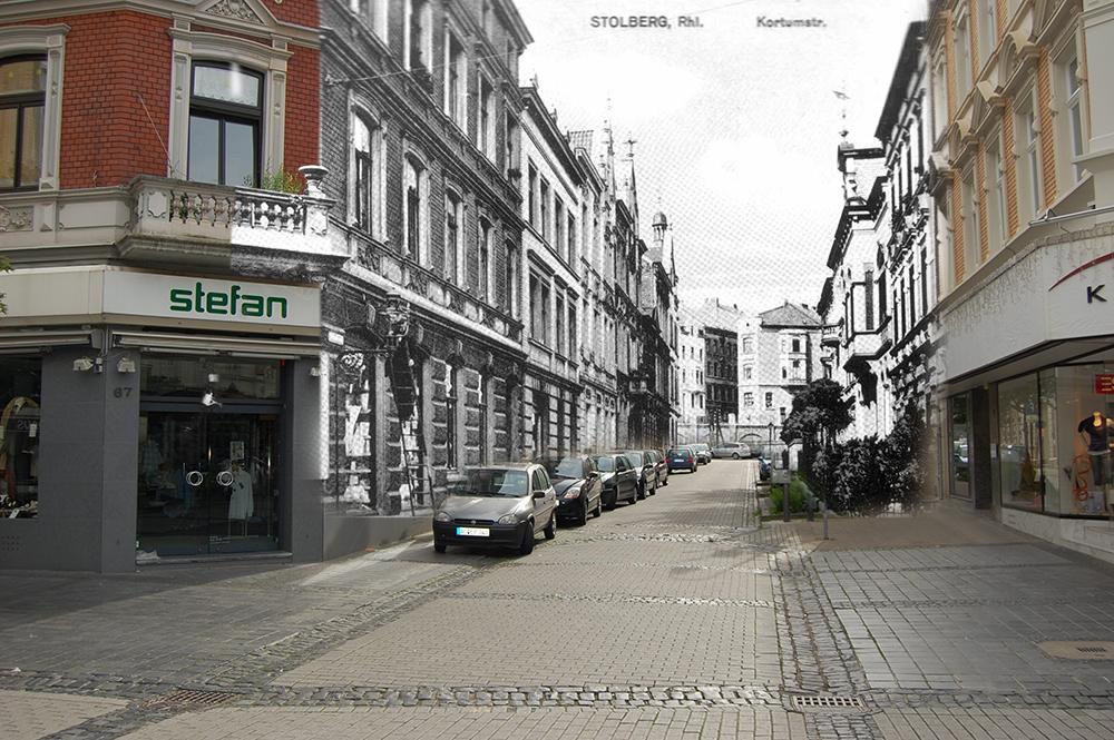Damals und Heute - Kortumstraße Stolberg Rhld.