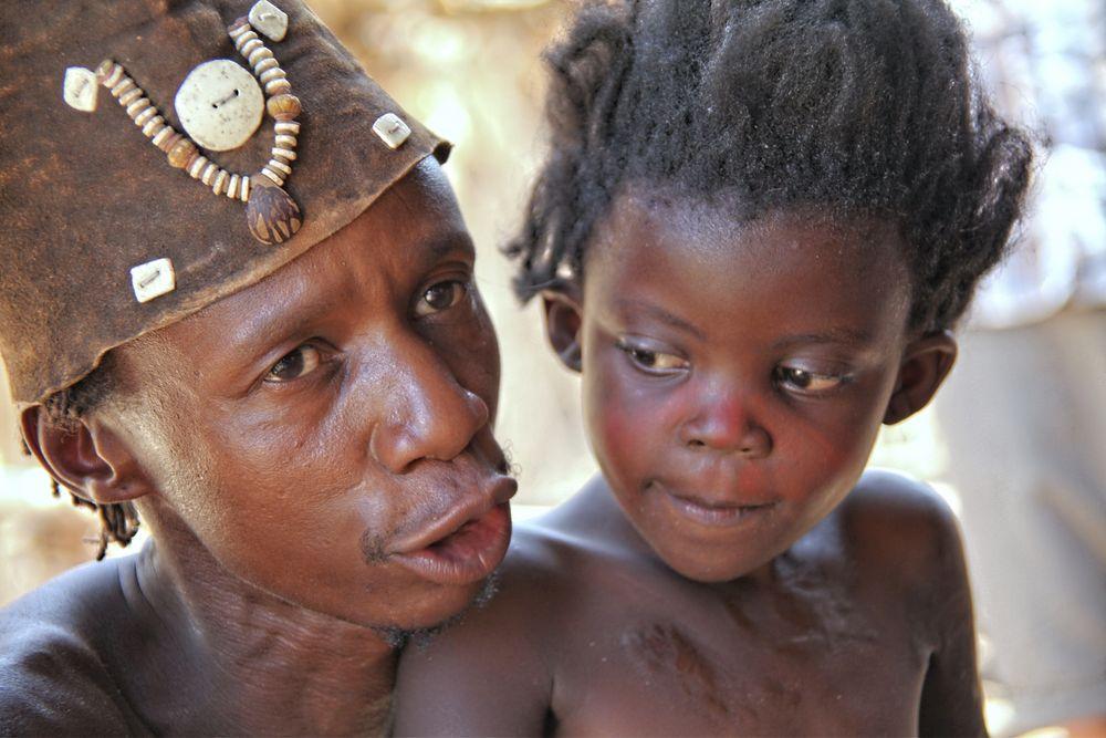 Damara mit Tochter