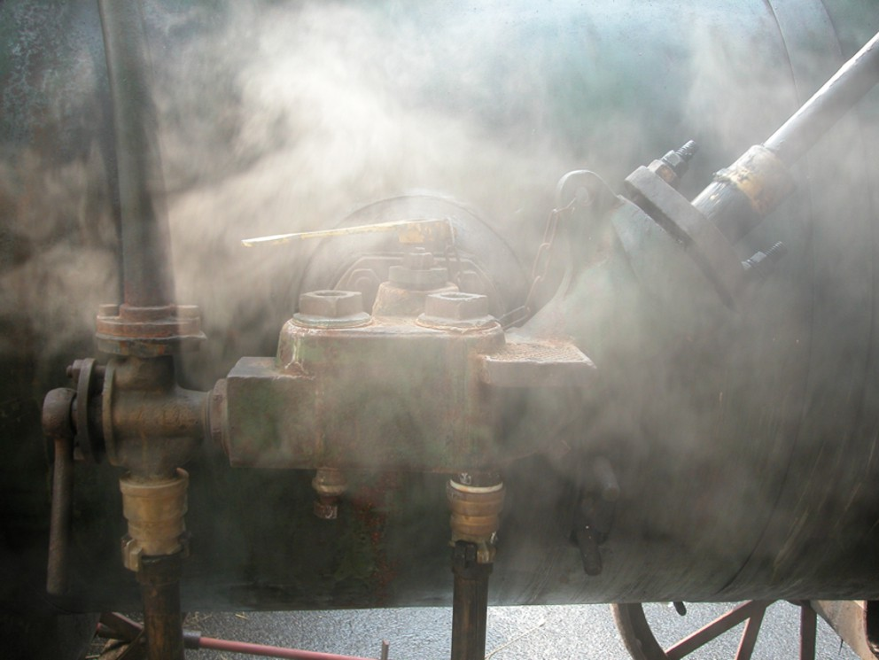 Dampf auf dem Kessel