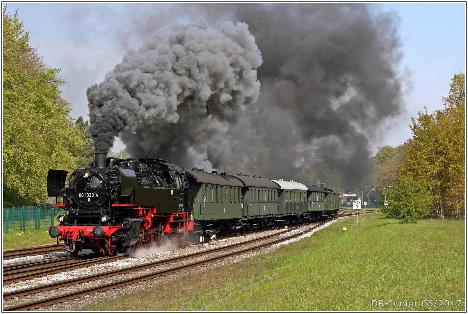 Dampf auf Usedom