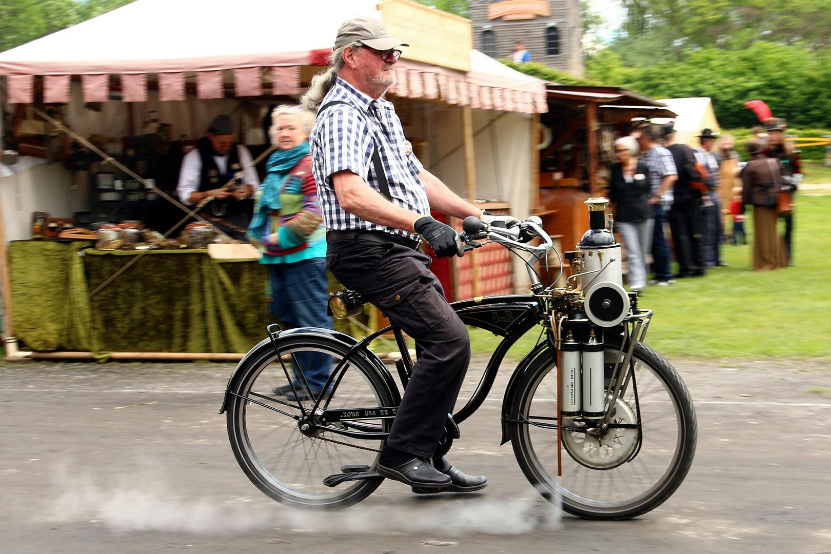 Dampf Fahrrad