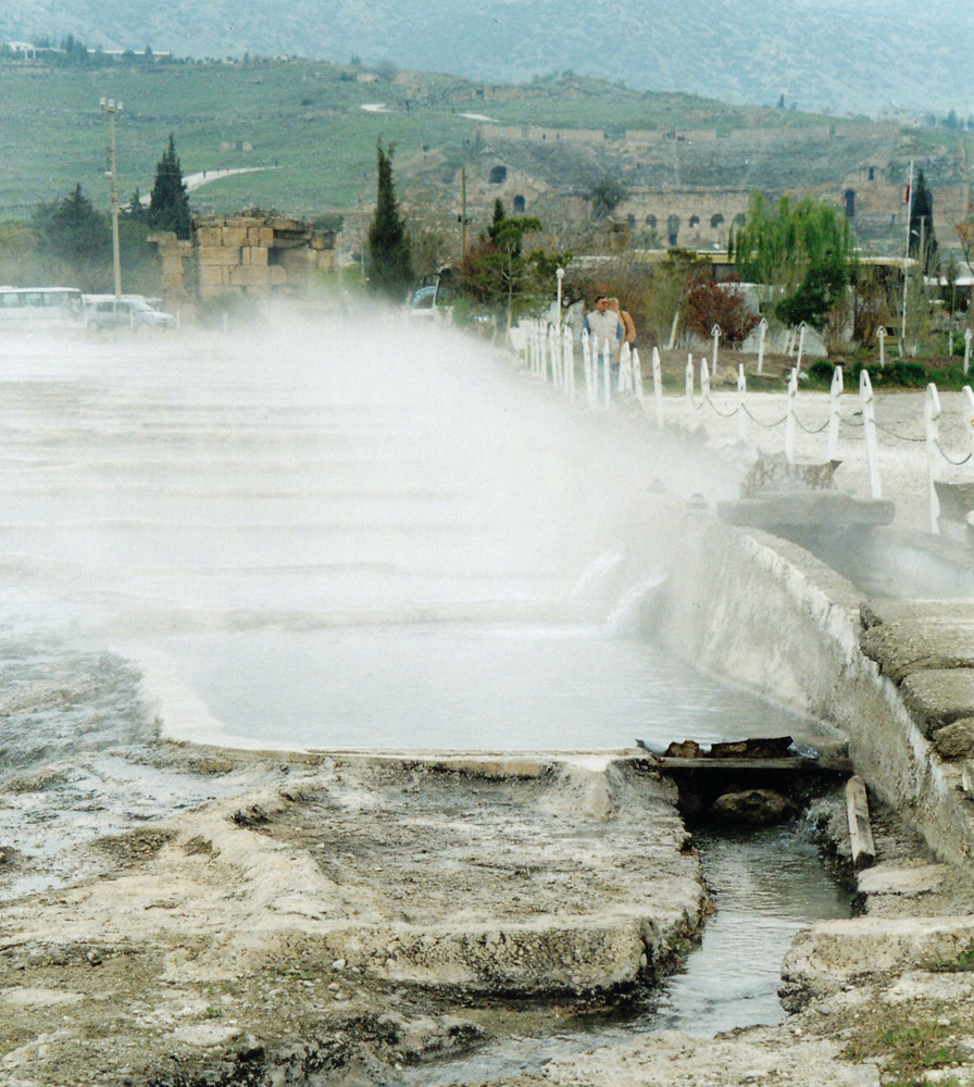 Dampf über Pamukkale