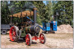 Dampfbagger und Traktor