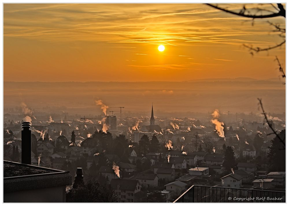 Dampfender Morgen